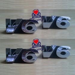 Logo V6 trước Mondeo mk3 2003-2008 (chính hãng)